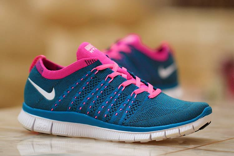 Nike Free 5.0 Flyknit Blue Red Shoes