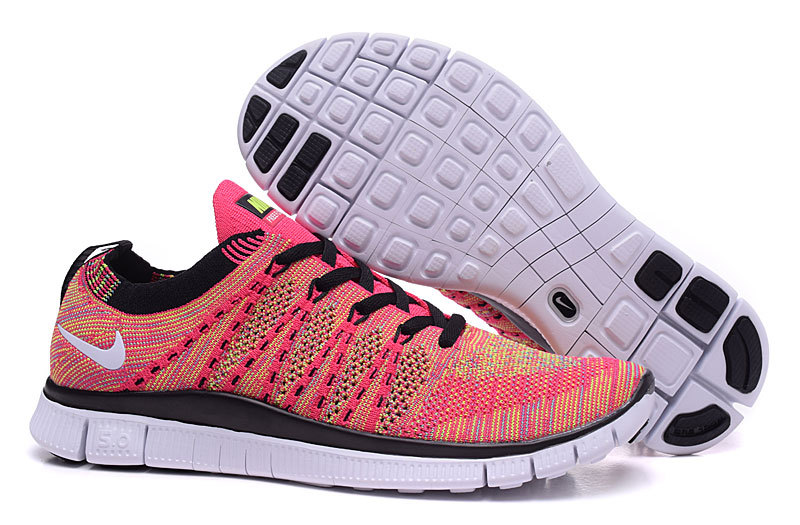 Nike Free 5.0 Flyknit Red Black Shoes