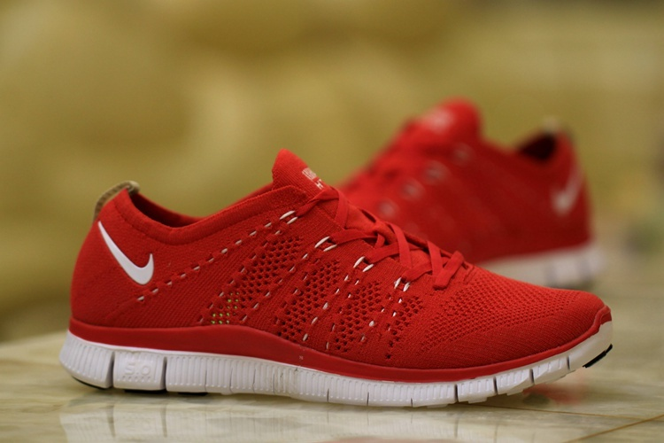 Nike Free 5.0 Flyknit Red White Shoes