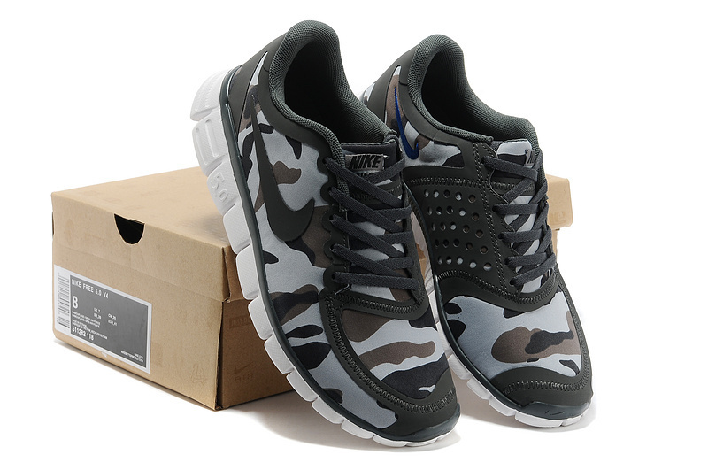 Nike Free Run 5.0 V4 Camouflage Air Force Grey Shoes