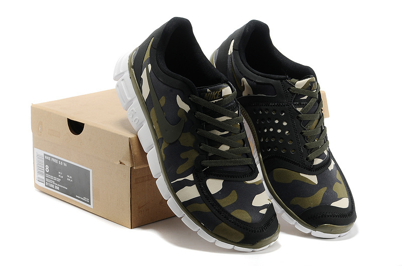 Nike Free Run 5.0 V4 Camouflage Army Green Shoes