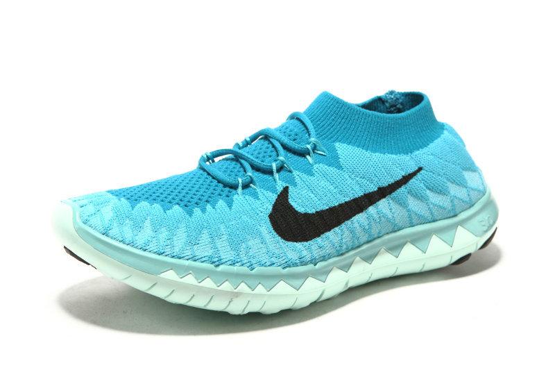 Nike Free Run 3.0 Flyknit Baby Blue White Running Shoes