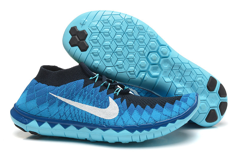 Nike Free Run 3.0 Flyknit Blue Black Running Shoes