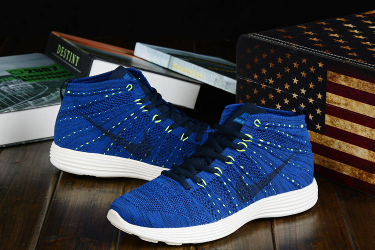 Nike Free Flyknit High Blue Black Shoes
