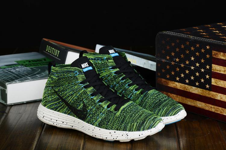 Nike Free Flyknit High Dark Green Black Shoes