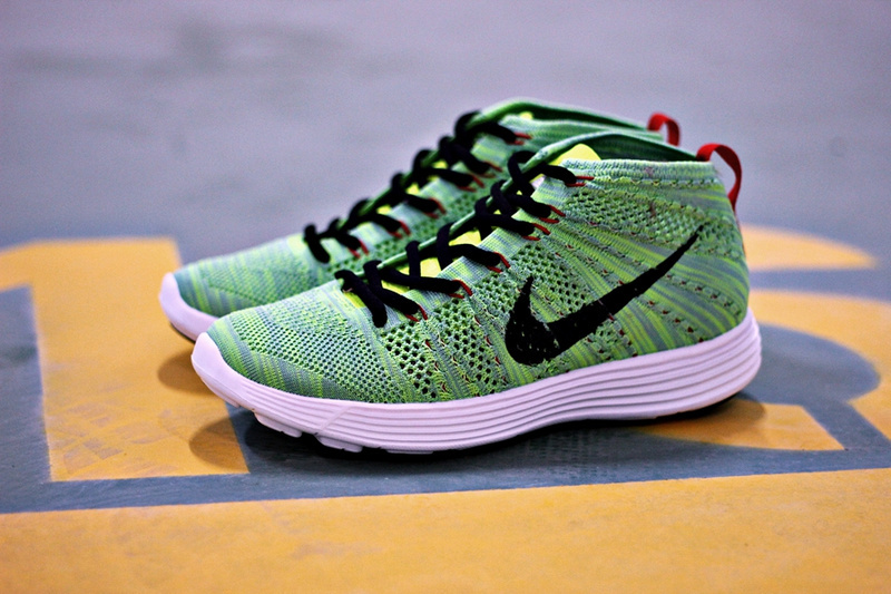 Nike Free Flyknit High Green Black Shoes