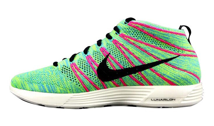 Nike Free Flyknit High Green Red Black Shoes