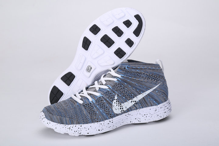 Nike Free Flyknit High Grey White Shoes