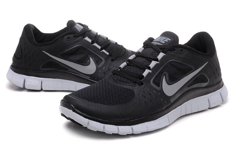 Nike Free Run+ 3 Black White Running Shoes
