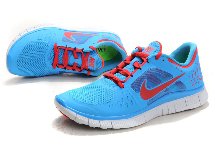 Nike Free Run+ 3 Blue Red White Running Shoes