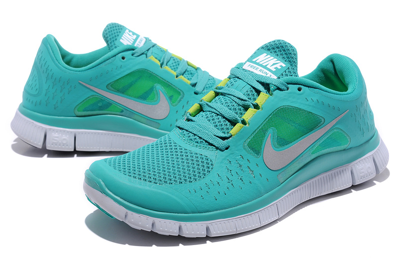 Nike Free Run+ 3 Green White Running Shoes