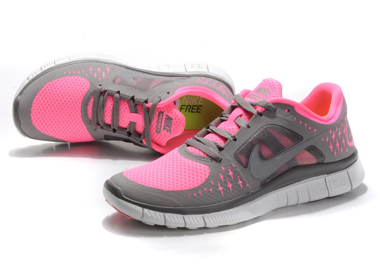 Women Free Run+ 3 Grey Pink Shoes