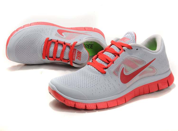 Nike Free Run+ 3 Grey Red Running Shoes