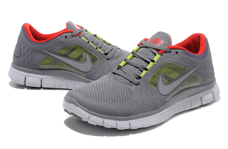 Nike Free Run+ 3 Grey White Running Shoes