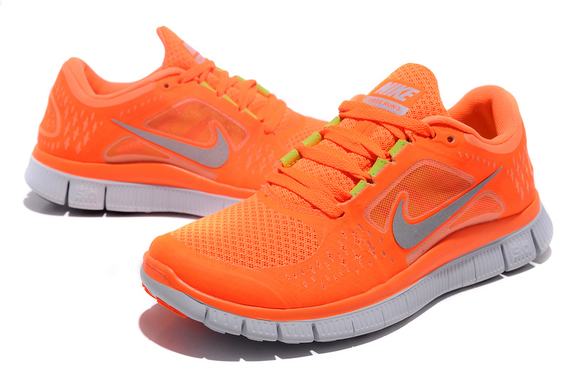 Women Free Run+ 3 Orange White Shoes