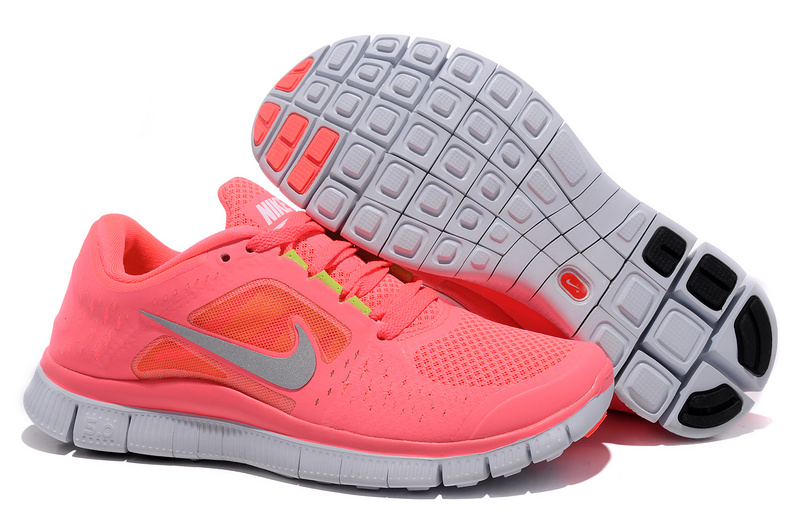 Women Free Run+ 3 Pink White Shoes