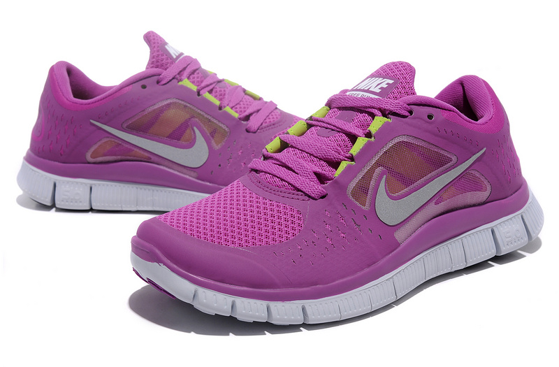 Women Free Run+ 3 Purple White Shoes