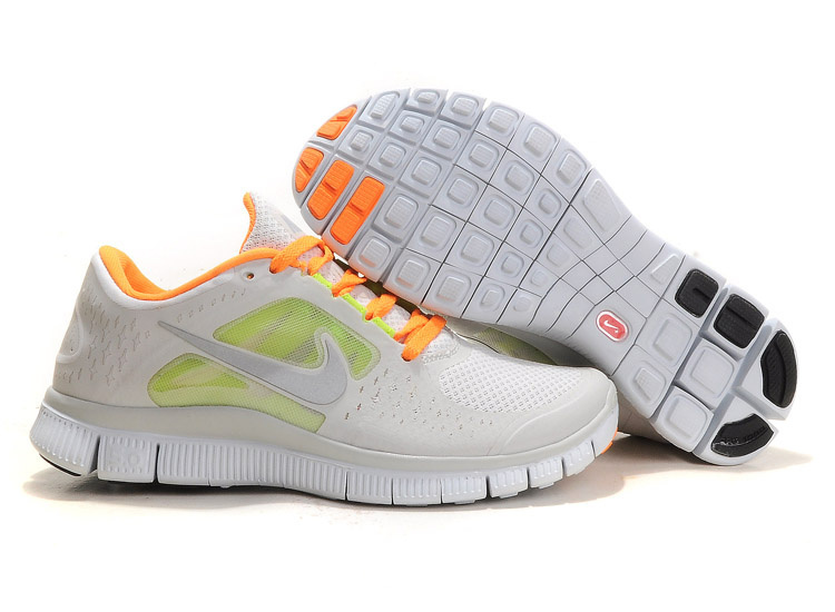 Women Free Run+ 3 White Orange Shoes