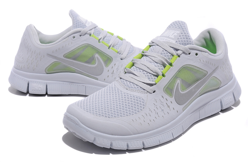 Nike Free Run+ 3 White Running Shoes