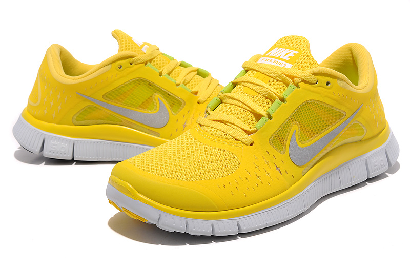 Nike Free Run+ 3 Yellow White Running Shoes