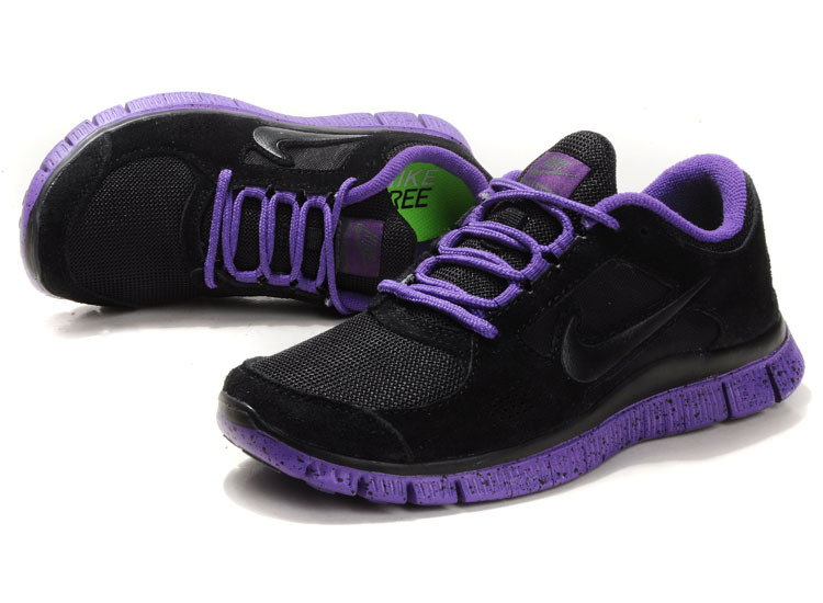 Nike Free Run+ 3 Black Purple Running Shoes
