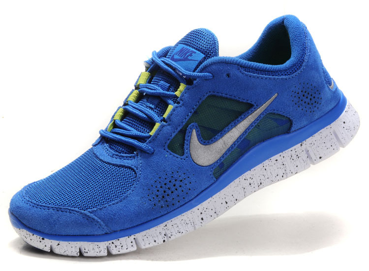 Nike Free Run+ 3 Blue White Running Shoes