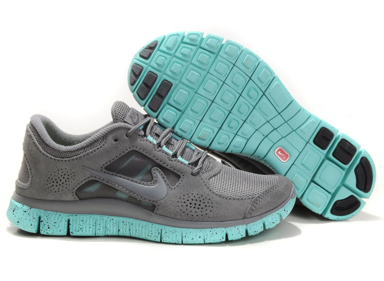 Nike Free Run+ 3 Grey Blue Running Shoes