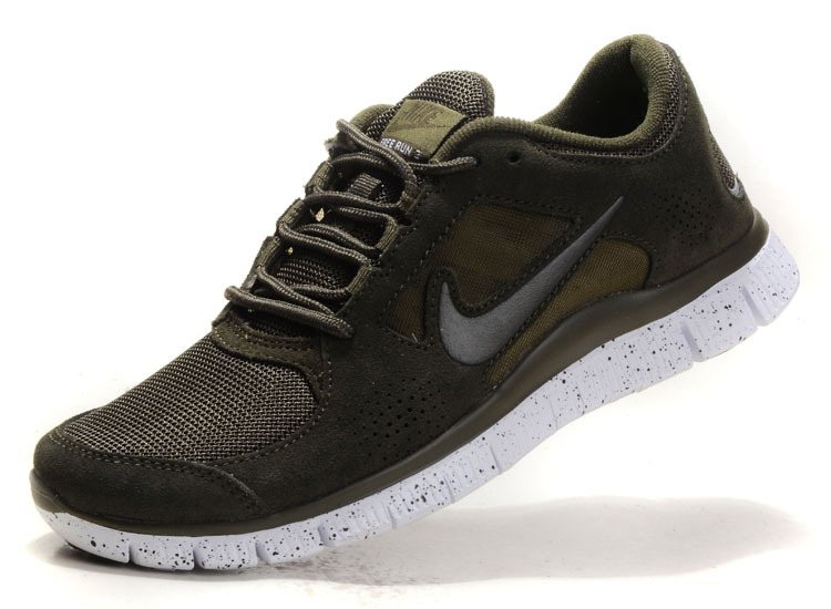 Nike Free Run+ 3 Grey Brown White Running Shoes