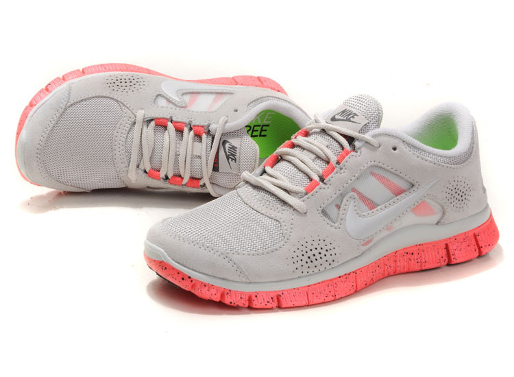 Nike Free Run+ 3 Grey Pink Running Shoes