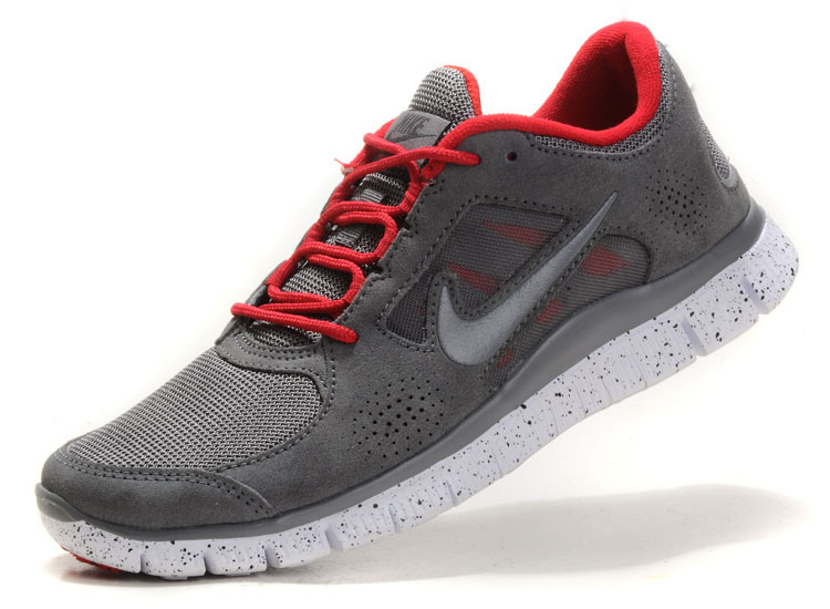 Nike Free Run+ 3 Grey Red White Running Shoes