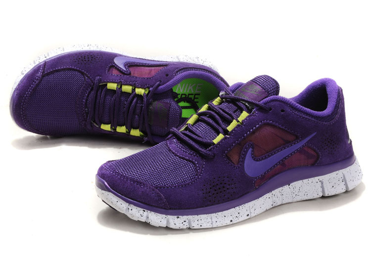 Nike Free Run+ 3 Purple White Running Shoes