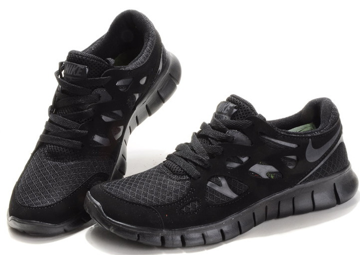 Nike Free Run 2.0 Running Shoes All Black