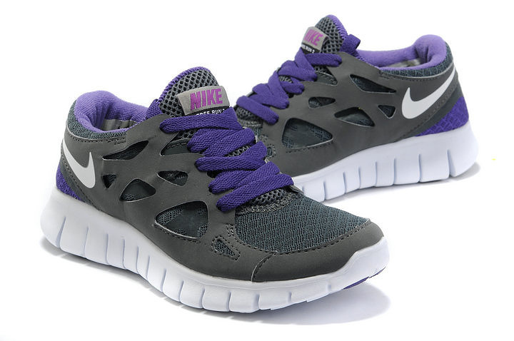 Nike Free Run 2.0 Running Shoes Black Purple