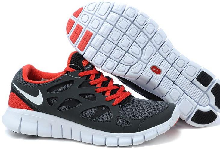Nike Free Run 2.0 Running Shoes Black Red White