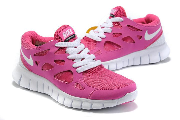 Nike Free Run 2.0 Running Shoes Pink White