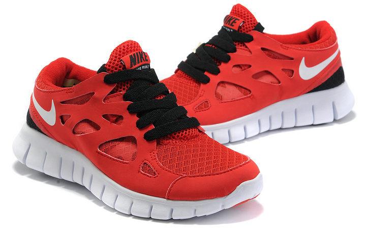 Nike Free Run 2.0 Running Shoes Red Black White