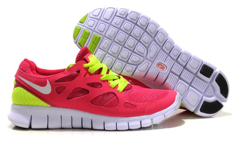 Nike Free Run 2.0 Running Shoes Red Green White