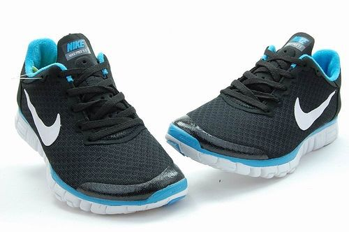 Nike Free Run 3.0 V2 Mesh Black Blue White Shoes