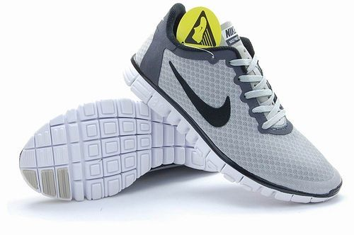 Nike Free Run 3.0 V2 Mesh Grey Black White Shoes
