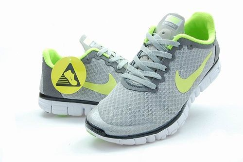 Nike Free Run 3.0 V2 Mesh Grey Green Black Shoes