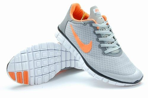 Nike Free Run 3.0 V2 Mesh Grey Orange Shoes