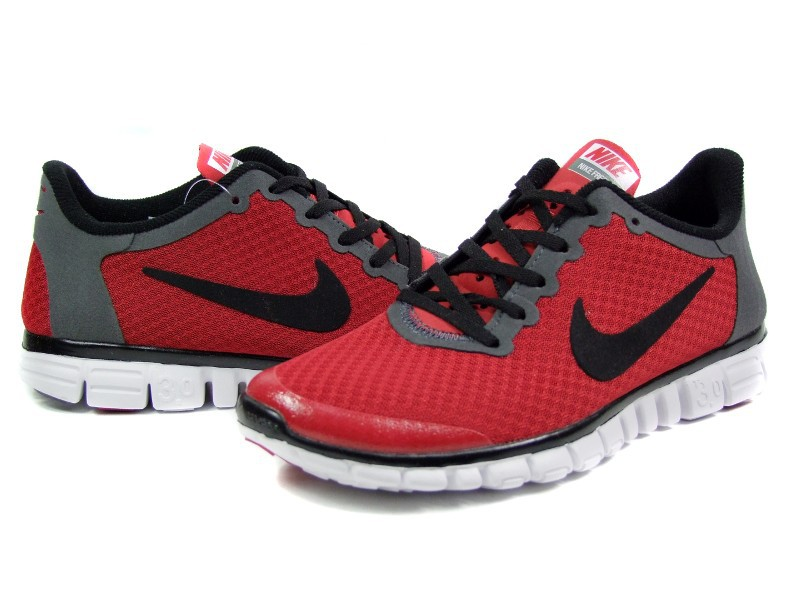 Nike Free Run 3.0 V2 Mesh Red Black White Shoes