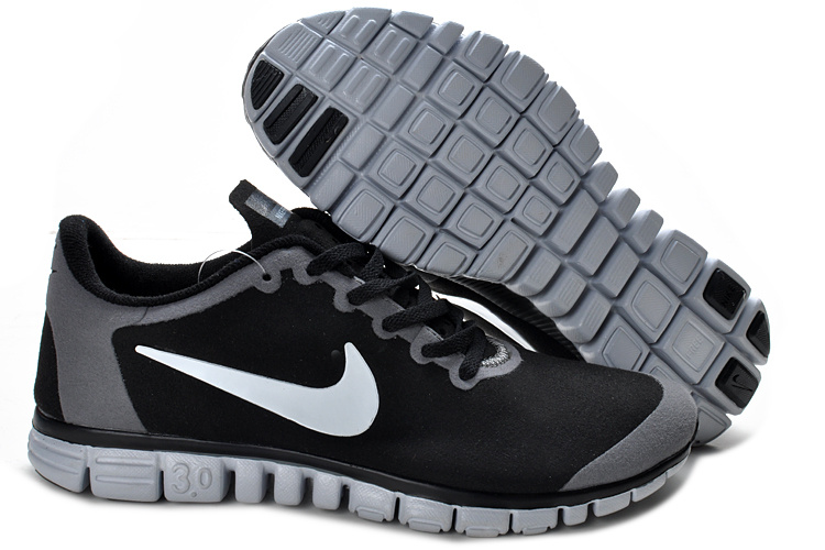 Nike Free Run 3.0 V2 Suede Black Grey Shoes