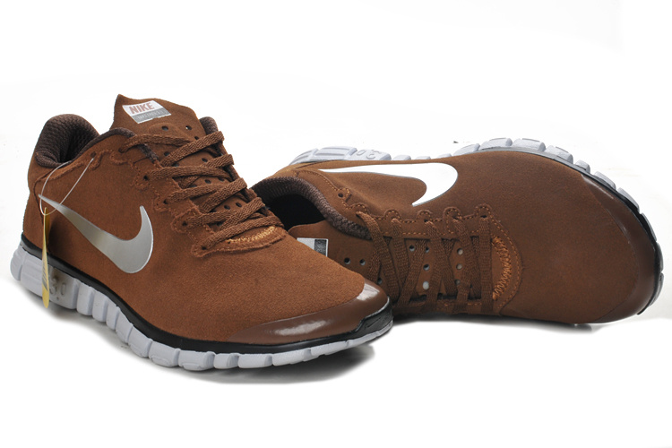 Nike Free Run 3.0 V2 Suede Brown Black White Shoes