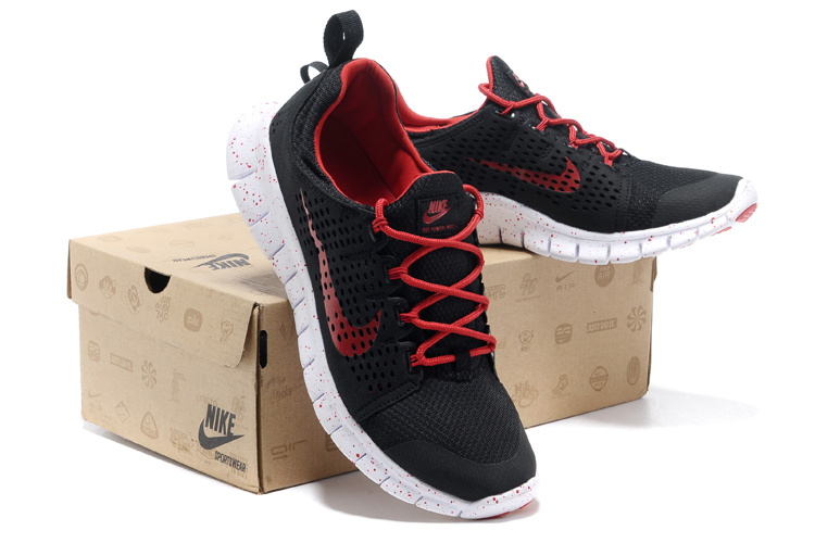 Nike Free Run 3.0 Black Red Shoes