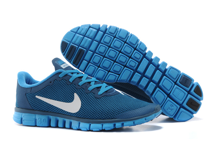 Nike Free Run 3.0 Blue White Running Footwear