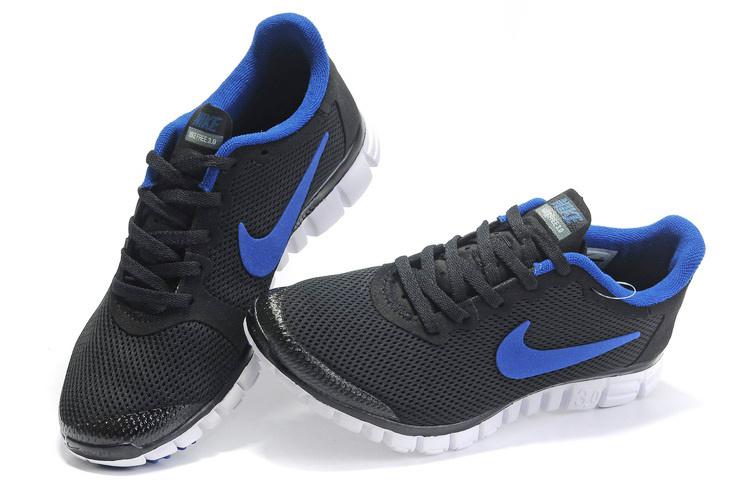 Nike Free Run 3.0 Mesh Black Blue Shoes