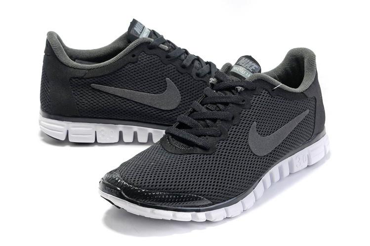 Nike Free Run 3.0 Mesh Black White Shoes
