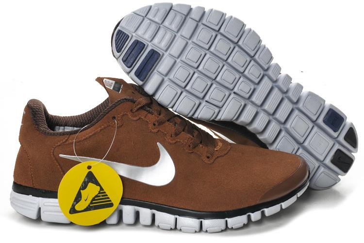 Nike Free Run 3.0 V2 Suede Coffe White Black Shoes