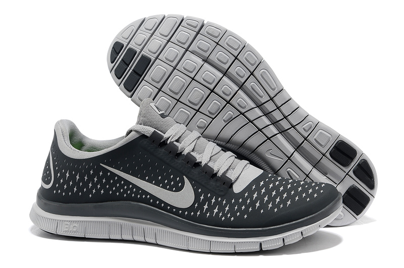 Nike Free 3.0 V4 Running Shoes Black Grey